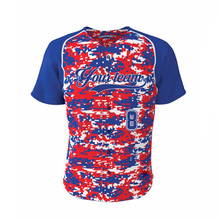 Red&Blue Camo Baseball Jersey Custom Blank Softball jerseys ForTeam Wear wholesale Polyester Quick Dry Training Shirts