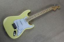 New!!! Scalloped Fingerboard,  Yngwie Malmsteen Guitar, Big Head ST Electric Guitar, Vintage cream color
