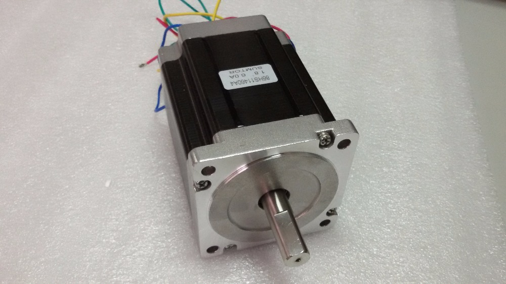 Nema 34 Flange 86mm Stepper Motor 6A 2 Phase Motors 1.8 degree 6.5NM/ 929oz.in 98mm Motor for CNC Cutting Machine<br>