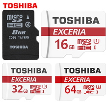 100% Original TOSHIBA Memory Card 8G 16G 32G 64G SDHC SDXC U3 Micro SD Class 10 Flash Microsd Card for Smartphones Mp3 Tablet