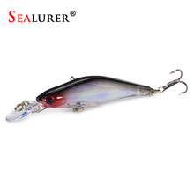 SEALURER 1Pcs/lot Fishing lures Crankbait sinking Minnow with 2 Fishing Hooks Fishing Jigs Boat Bass Artificial Bait(China)
