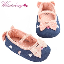 0-18M Soft Soled Girls baby Shoes First Walkers Bow Prewalker Crib Shoes,Bebe Shoes,Baby Girl Shoes2(China)