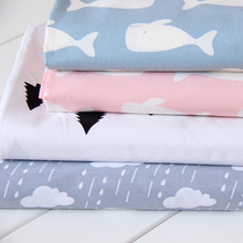 235CM*50CM whale cartoon cloud pine cartoon 100% cotton baby bedding fabric bed quilt sewing tecidos patchwork fabric tissue