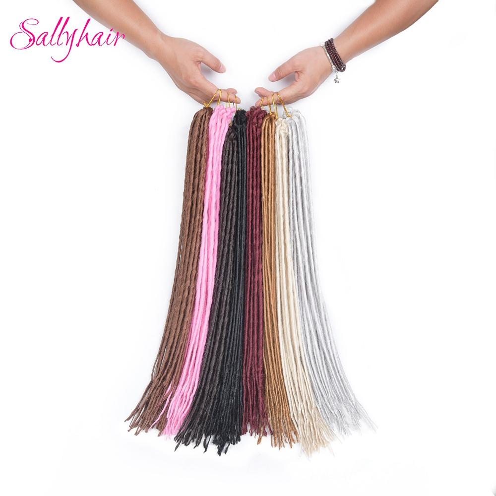 1 pack 24strands dreadlocks Crochet Braids Synthetic Hair Extensions Braiding Hair (10)