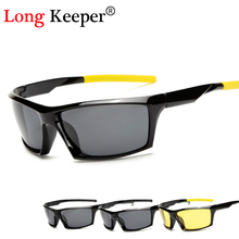 Long Keeper Mens Polarized Night Driving Sunglasses Brand Yellow Lense Vision Glasses Goggles Reduce Glare KP1005 - Y&B&Z Cloth Accessories Store store