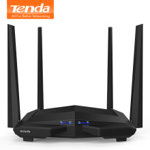 Tenda AC10 1200Mbps Wireless WiFi Router,1GHz CPU+128M DDR3,1WAN+3LAN Gigabit Ports, 4*5dBi High Gain Antennas, Smart APP Manage(China)