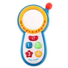 Musical Phone Toy Sound Learning Study Educational Vocal Toys for Toddler Baby Kids Simulation Plastic Electronic Cell Phone P15(China)