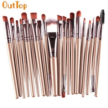 OutTop Love Beauty 20pcs/Set Soft Makeup Brush Sets Kits Eye Shadow Foundation Make-up Brushes Supplier 160718 Drop Shipping