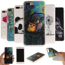 Soft TPU Case For iPhone 7 / 7 plus Tiger Owl Lion Flower Coloured Pattern Silicone cell Phone Cover Cases For iPhone 8 / 8 plus(China)