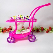 Kid Play House Nursery Furniture Stroller Plastic Trolley Accessories Toys For Barbie Kelly Size Doll 1 : 12 Puppet Gift