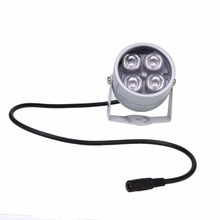 4 IR LED Infrared Illuminator Light IR Night Vision Metal White Dome Waterproof For Camera Fill Lighting Night Vision DC 12V