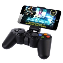 Black wireless game controller PC gamepad with Bluetooth & 2.4Ghz dual inerface types and internal battery moile phone joystick