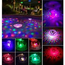 Waterproof Underwater Flashing Colorful Light Floating LED Swimming Pool LED Floating Light Festival Disco Party Light(China)