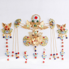 Chinese bride jewelry costume headdress Tang suit hair ornaments retro wedding crown accessories factory direct AQ2138