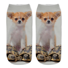 Durable Calcetines 3D Impreso Animal aire permeabilidad Calcetines Casual Lindo Gato Unisex Low Cut Tobillo Calcetines