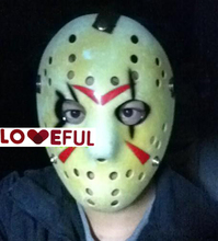 New Yellow Black Eye Cosplay Delicated Jason Voorhees Freddy Hockey Festival Party Halloween Masquerade Mask --- Loveful