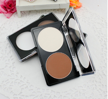 Women 2 colors Makeup Cosmetic Contour Shading Concealer Powder Palette 2 colors foundation palette