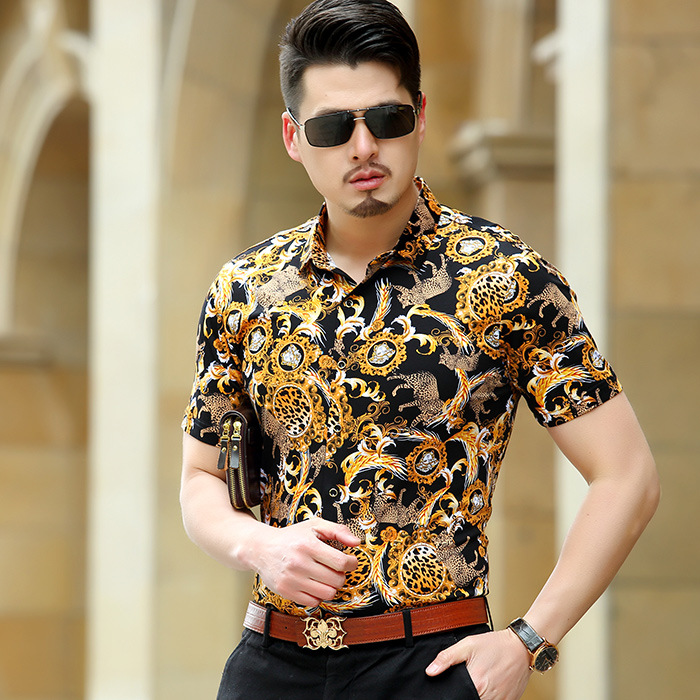 Wholesale Mens Leopard Print Shirt