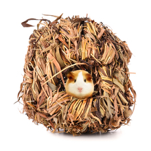 Small Pet Animal  Hamster Grass Net Grass Hand-weaved Pet Toys Cages for Chinchilla/ Hamster/Guinea Pigs Small Animal Playground