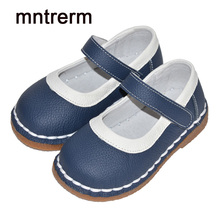 Mntrerm 2017 The New Girls Shoes Children's Simple Fashion Princess Genuine Leather Shoes High Quality Girls Black Shoes