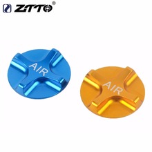 2 PC ZTTO CNC Mountain Bike Gas Fork Cover MTB Fork Gas Cap Bicycle Fork Cover Gold Blue