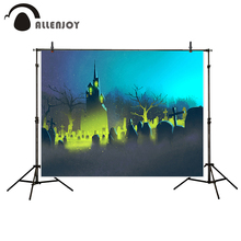 Allenjoy photography background Gloomy Cemetery castle night Halloween theme backdrop photo background studio camera fotografica