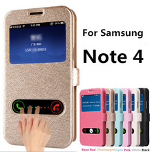 Luxury Flip Cover Case For Samsung Galaxy Note 4 Leather Phone Bag With Stand Design Function Note4 Cases