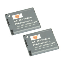DSTE 2pcsNB-11L nb-11l Battery For Canon IXUS 125 155 150 145 140 132 175 180 265HS 240HS A3400 A4000 DSLR IXUS 275 HS