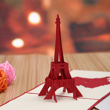Eiffel Tower building paper manufacturers selling solid hollow card business card selling tourist attractions