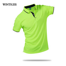 WINTRESS Fashion Style Men Polo Shirt Contrast Color Collar Short Sleeve Solid Polo Top Clothes Can Custom Print Logo(China)