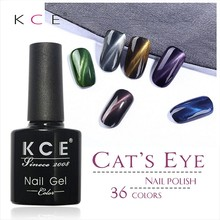 2017 new KCE Brand UV glue Nail Polish Manicure LED Cats Eye 36 Color 10 ml Healthy cat eye nail And Green Plastic paint Made(China)