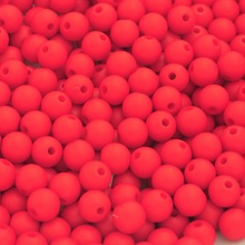 MJARTORIA 300Pcs Acrylic Matte Red Round Ball Spacer Beads DIY Beads Accessories For Jewelry DIY Bracelet Necklace Gift Findings