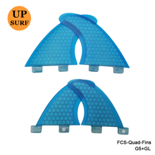 FCS-Quad-Fins SUP Surfboard Blue/Orange Honeycomb Fins FCS G5+GL Fin FCS Quilhas In Surfing