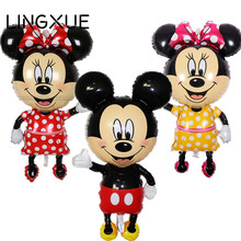New! 112*64cm Red bowknot Mickey Minnie foil Balloons Classic kids Toys Birthday Wedding Party inflatable air balloons