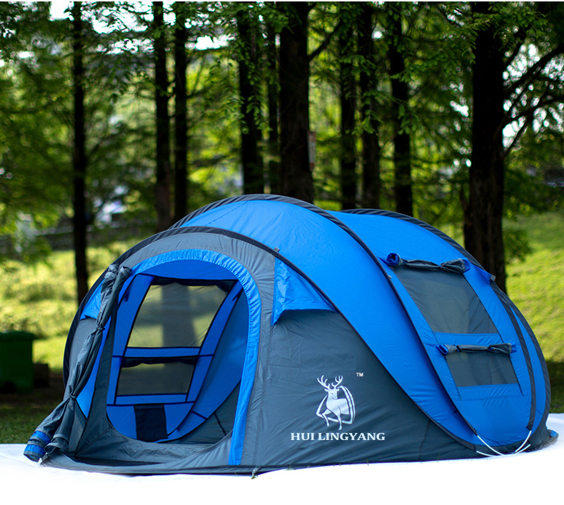 HYL camping pop up tent large 3-4 person windproof (11)