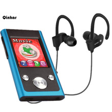 Qinkar 8GB bluetooth MP3 Player + Bluetooth earphones, bluetooth sport earphone wireless earbuds + bluetooth sport MP3 players(China)