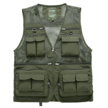 Men Multi-pocket Vest Men's Quick Dry Thin Mesh Photography Vests Male Multifunction Outdoors Waistcoat Cargo Work Coats 8868(China)