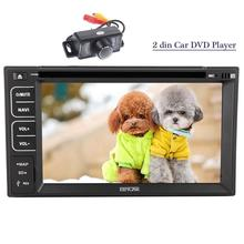 Car Multimedia Player 2 din radio steering-wheel tape recorder cassette player car GPS navigator BT Radio 2 din Rear View Camera(China)