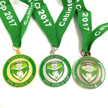 custom running sports medal with custom ribbon gold/silver/bronze plating--250pcs