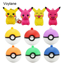 wholesale mini pen drive Pokemon Pikachu gift pen drive 8gb 16gb 32gb 64gb keychain cartoon Pokeball usb flash drive pendrive