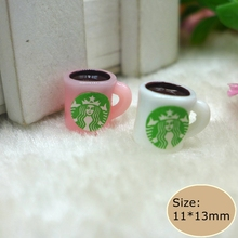 Kawaii Resin tiny coffee cup for phone deco diy Free shipping(China)