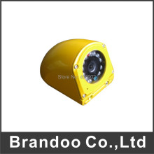right left side view installation bus camera with IP67 waterproof case and 8 meters IR night vision
