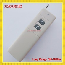 200-3000m Transmitter Long Range Distance RF Remote Control ASK 315/433.92MHZ High Power Wireless TX 130mW Industrial Remote(China)