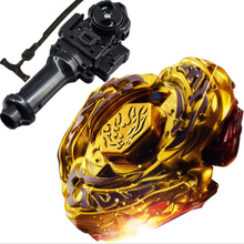 Hot Sale New L-DRAGO GOLD 4D TOP METAL FUSION FIGHT MASTER BEYBLADE lighted musical Toys Beyblade-Launchers peonza