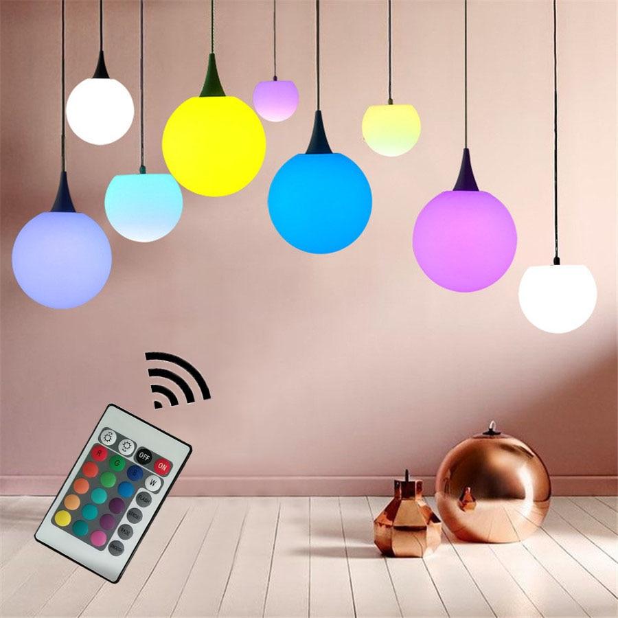 Thrisdar 16 Color Nordic White Globe Ball Pendant Light KTV Hotel Restuarant Bar Kitchen Fixture Lighting lamparas colgantes<br>