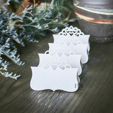 H&D Ivory Crown Laser Cut Table Name Cards Wedding Centerpieces Decor Vintage Wedding Party Decoration Pack of 12(China)