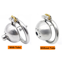 Buy 304 stainless steel Super Small Short Cock Ring Cage Male Chastity Device Stealth lock Ring Penis Sleeve Sex Toys men