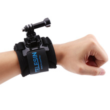 360 Degree Rotary Wrist Hand Strap Belt Mount for Sports Action Video Cameras for GoPro 5/4/3+ Diving Mountain Cycling(China)