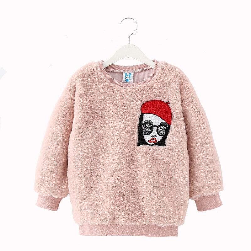 Winter Girls Sweatshirts Big Girls Outwear Warm Thickening Clothing for children 6y-14y<br>