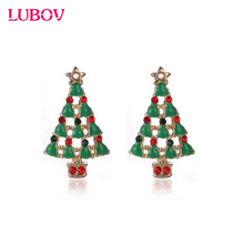 Cute Christmas Earrings Santa Snowman Christmas Tree Bell Earring Holiday Gifts for Womens Ladys fast shipping 2018 New Arrival(China)